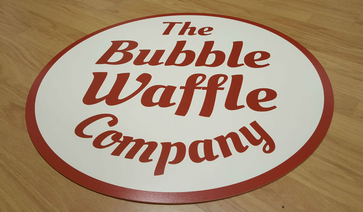 The Bubble Waffle Company Floor Graphics
