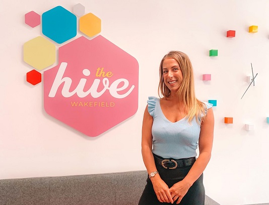 New reception graphics for the Hive