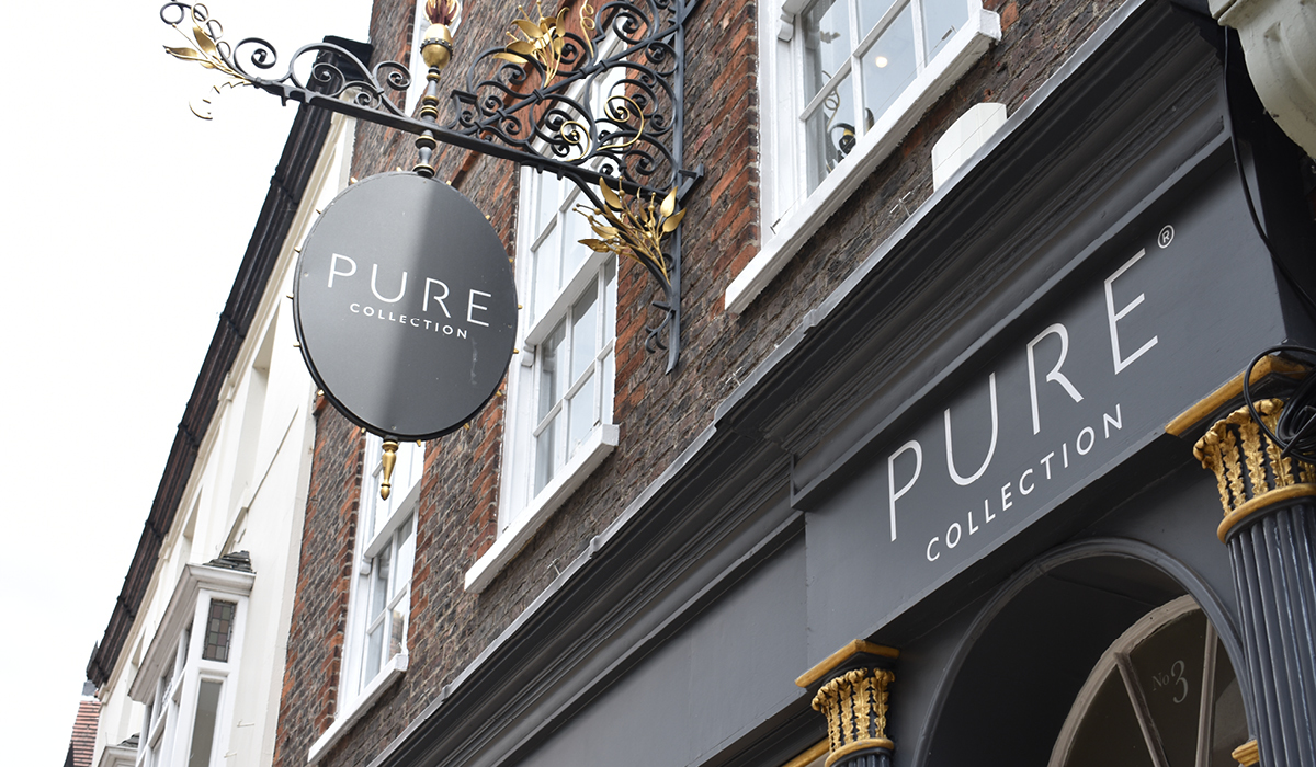 retail sign production pure collection