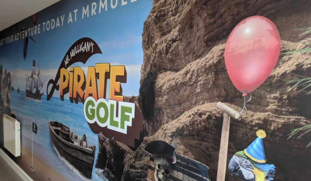 pirate golf wall graphics printing uk
