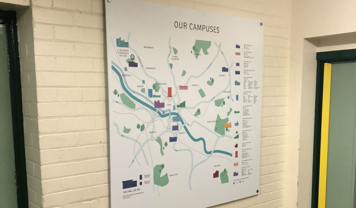 Acrylic Wayfinding Map Sign
