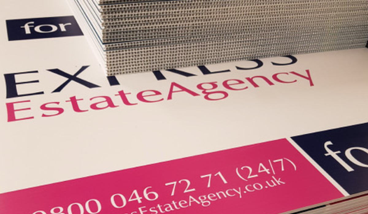 Estate Agency Retail Sign Printing