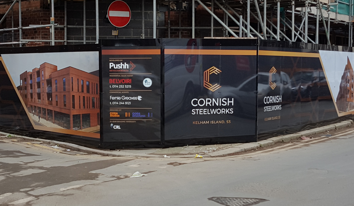 hoarding board printing cornish steelworks