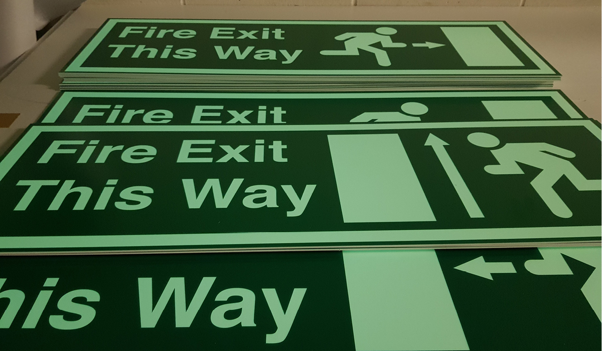 directional signage fire safety exit