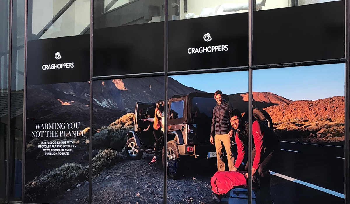 craghoppers printing retail outdoor signage