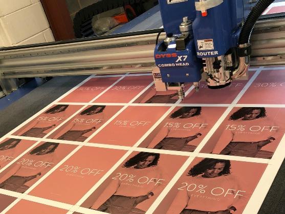 Printing acrylic squares at CSD